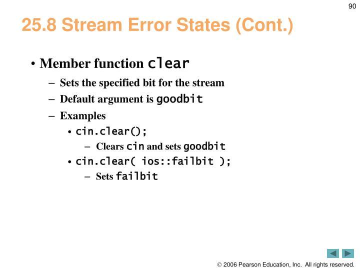 25.8 Stream Error States (Cont.)