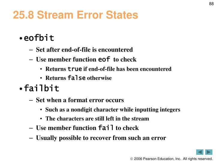 25.8 Stream Error States