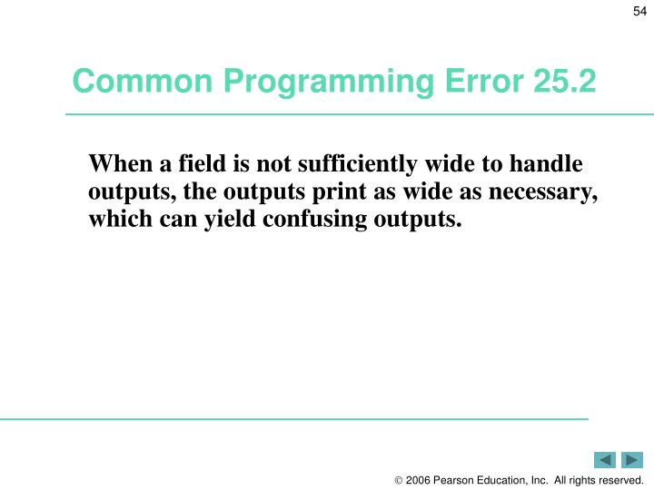 Common Programming Error 25.2