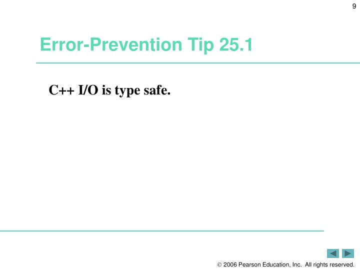 Error-Prevention Tip 25.1