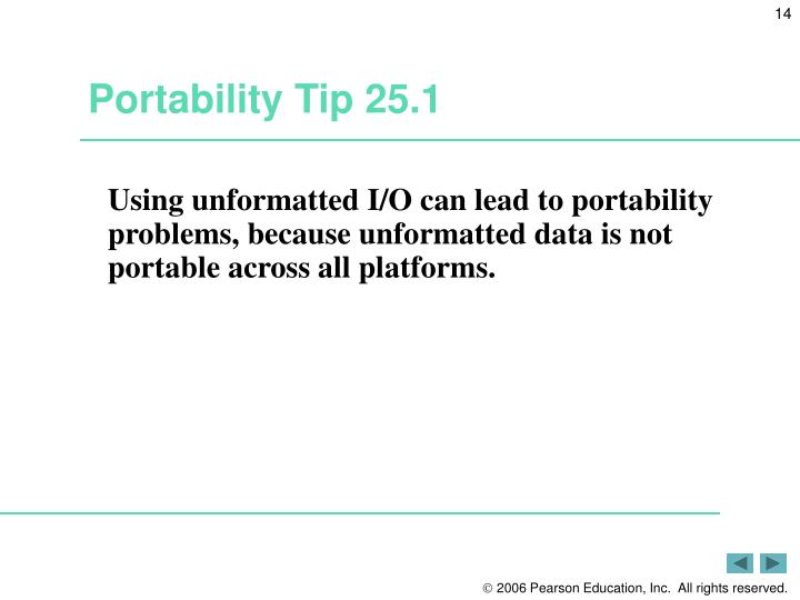 Portability Tip 25.1