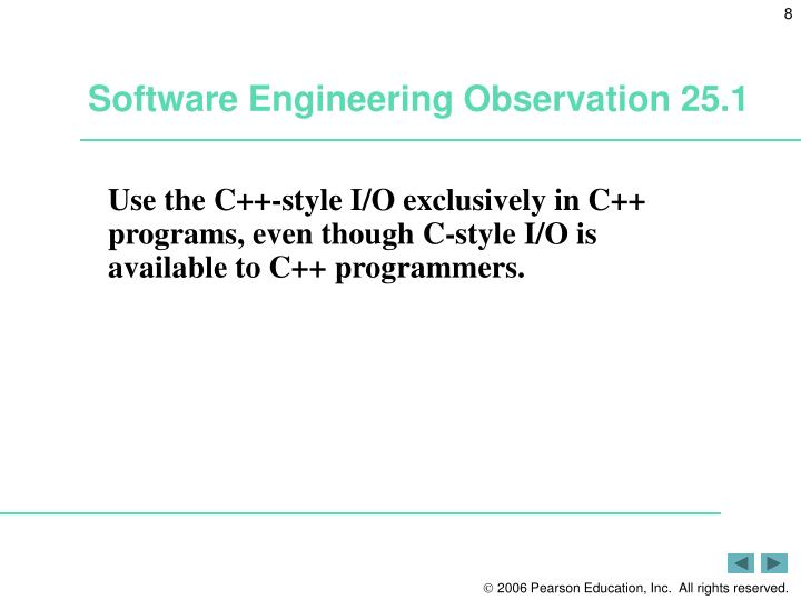 Software Engineering Observation 25.1