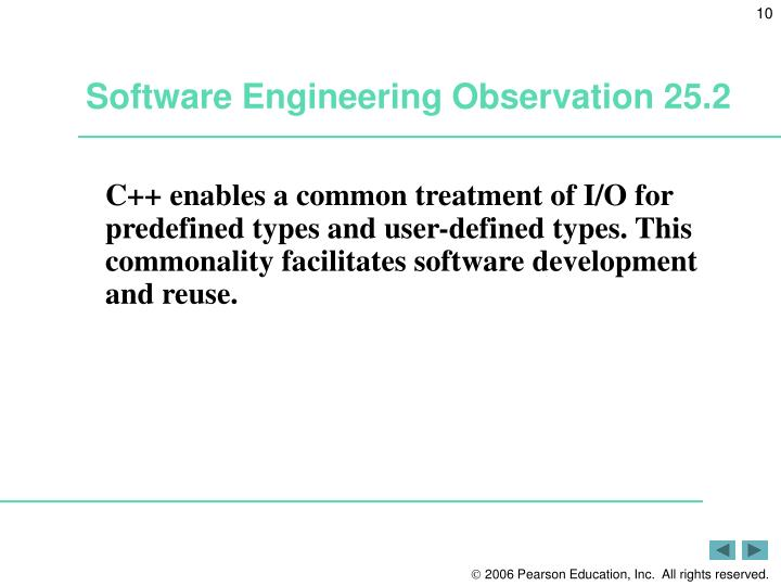 Software Engineering Observation 25.2