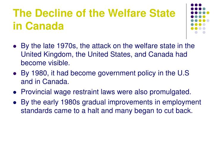 The Decline of the Welfare State in Canada