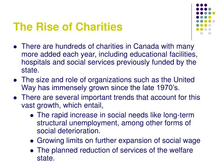 The Rise of Charities