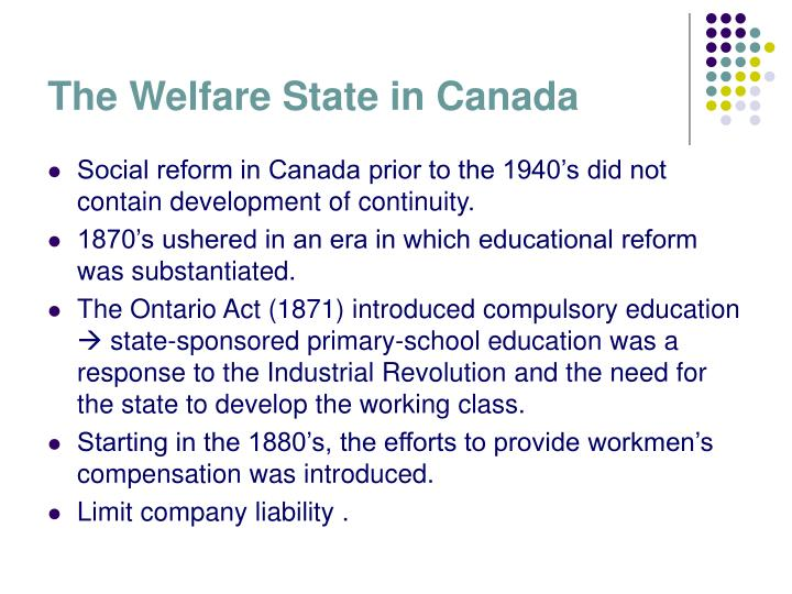 The Welfare State in Canada