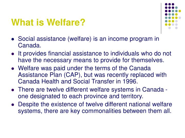 What is Welfare?