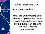 an association s dna2