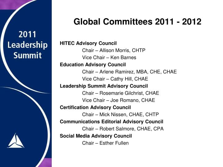Global Committees 2011 - 2012