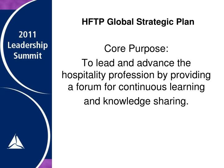 HFTP Global Strategic Plan