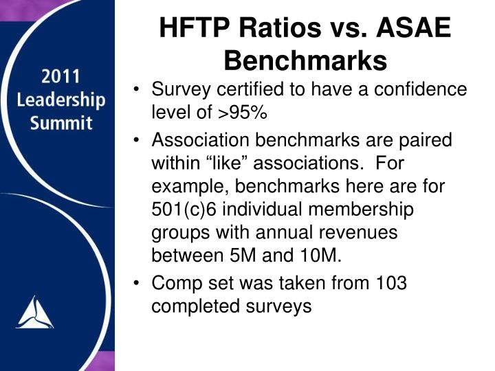 HFTP Ratios vs. ASAE Benchmarks