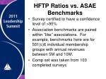 hftp ratios vs asae benchmarks