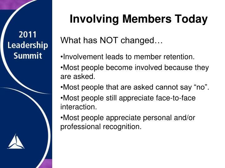 Involving Members Today