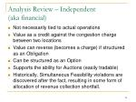 analysis review independent aka financial