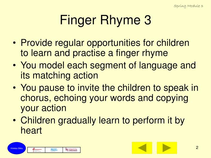 Finger rhyme 31