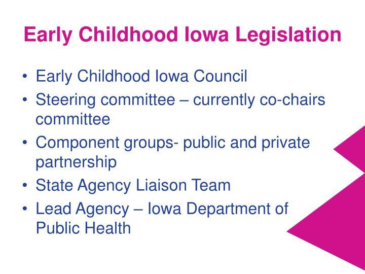 Early Childhood Iowa Legislation
