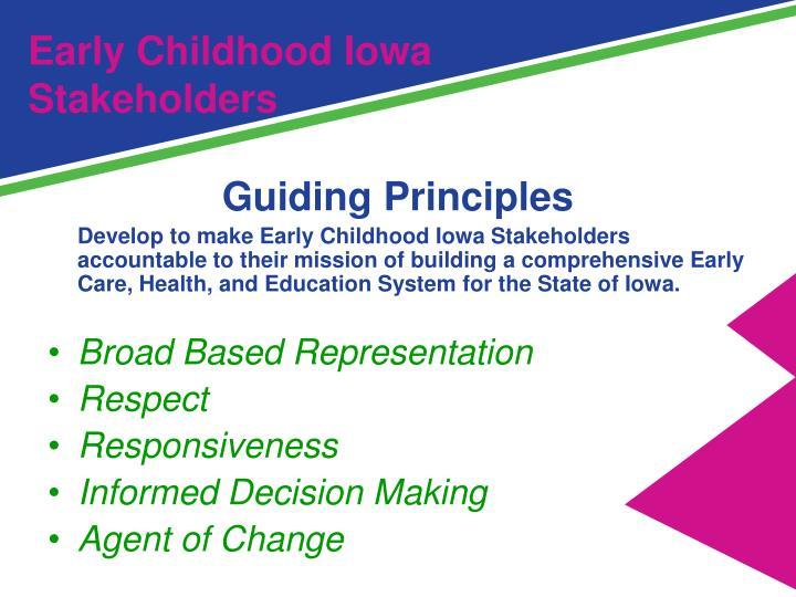 Early Childhood Iowa Stakeholders