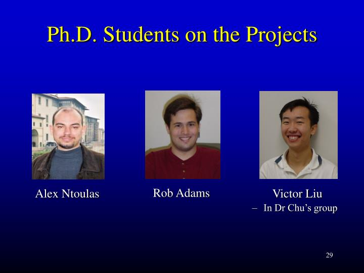 Ph.D. Students on the Projects