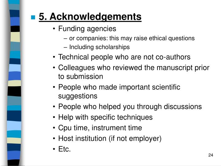 5. Acknowledgements