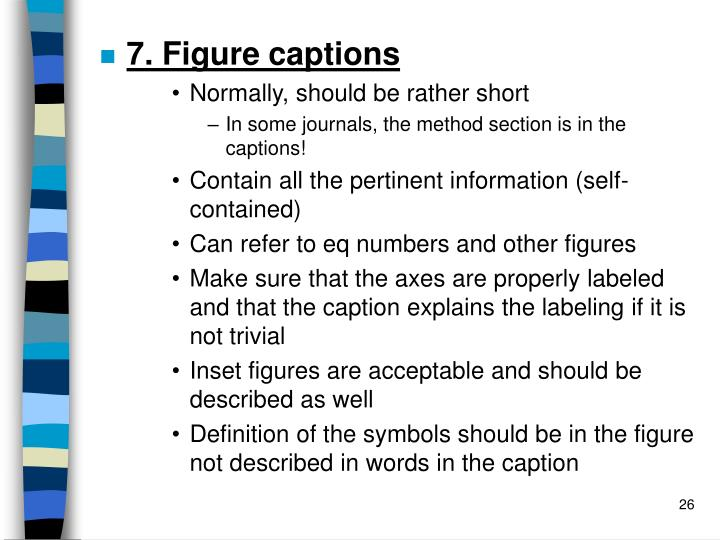 7. Figure captions