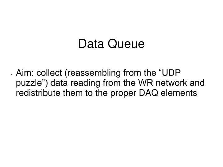 "Aim: collect (reassembling from the ""UDP puzzle"") data reading from the WR network and redistrib..."