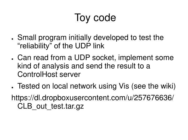 Toy code