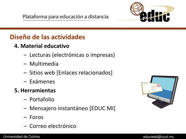 4. Material educativo