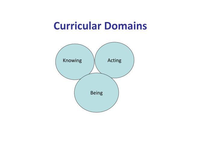 Curricular Domains