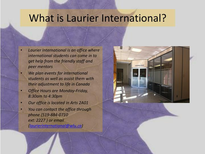 What is laurier international