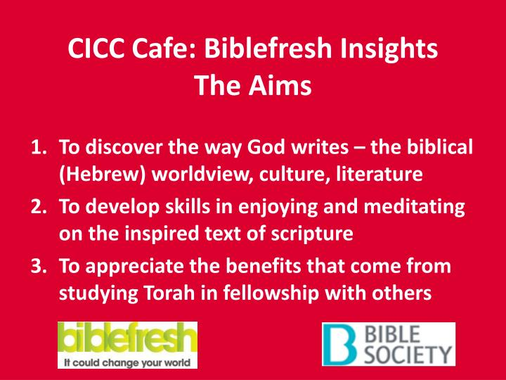 CICC Cafe: Biblefresh Insights