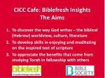 cicc cafe biblefresh insights the aims