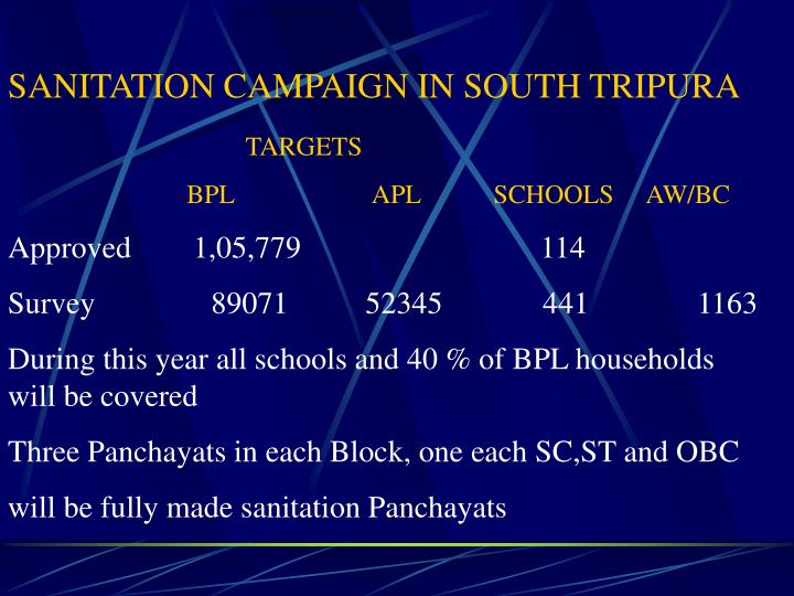 SANITATION CAMPAIGN IN SOUTH TRIPURA