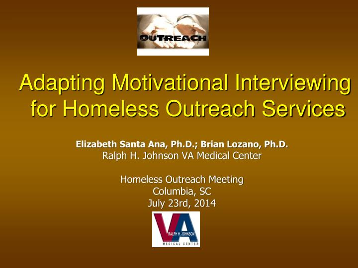 Adapting Motivational Interviewing