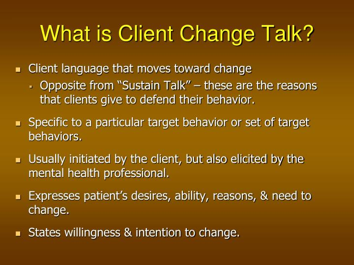 What is Client Change Talk?