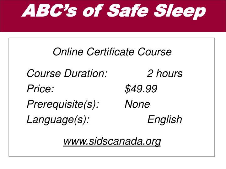 Online Certificate Course