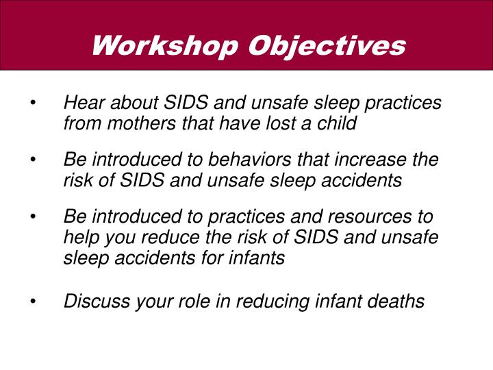 Hear about SIDS and unsafe sleep practices from mothers that have lost a child