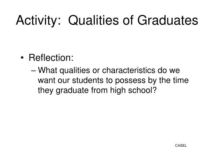 Activity:  Qualities of Graduates