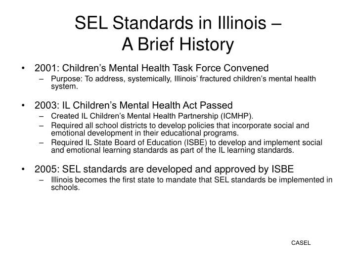 SEL Standards in Illinois –