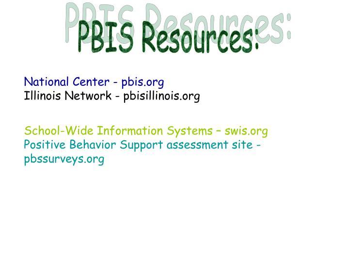 PBIS Resources: