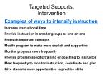 targeted supports intervention