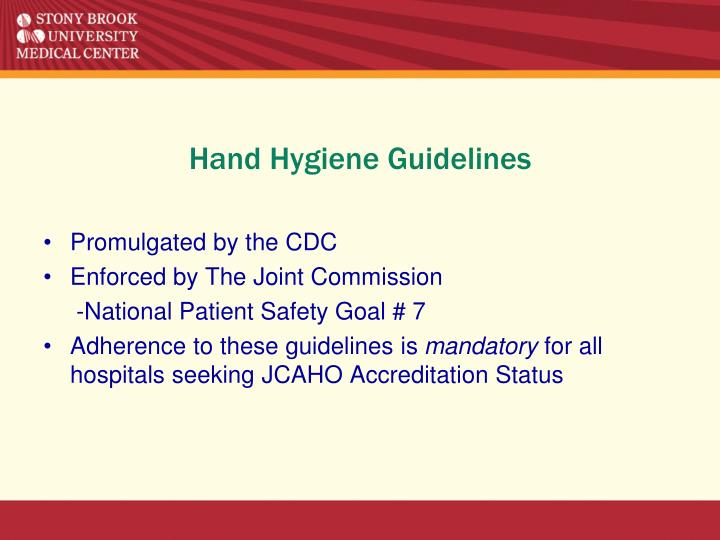 Hand Hygiene Guidelines