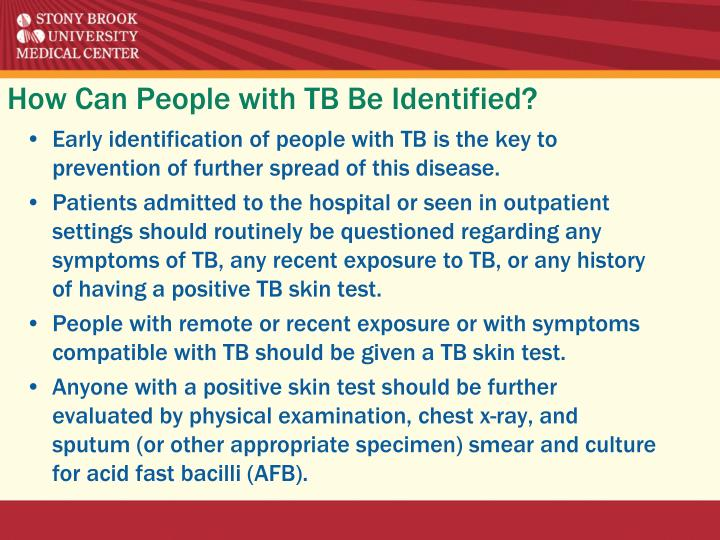 How Can People with TB Be Identified?