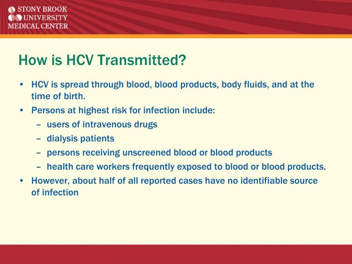 How is HCV Transmitted?