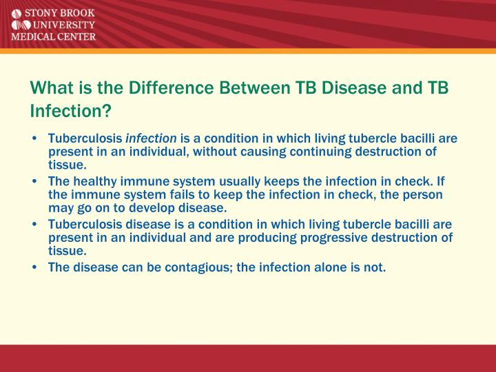 What is the Difference Between TB Disease and TB Infection?