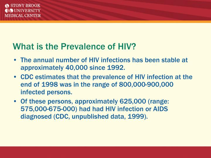 What is the Prevalence of HIV?
