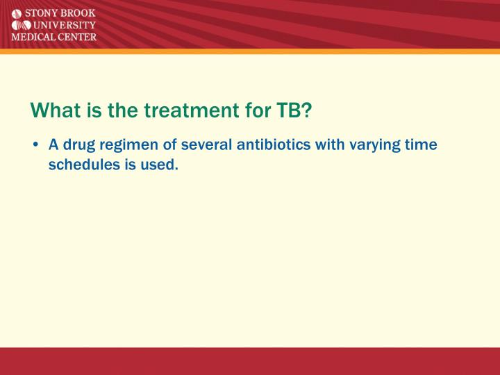 What is the treatment for TB?