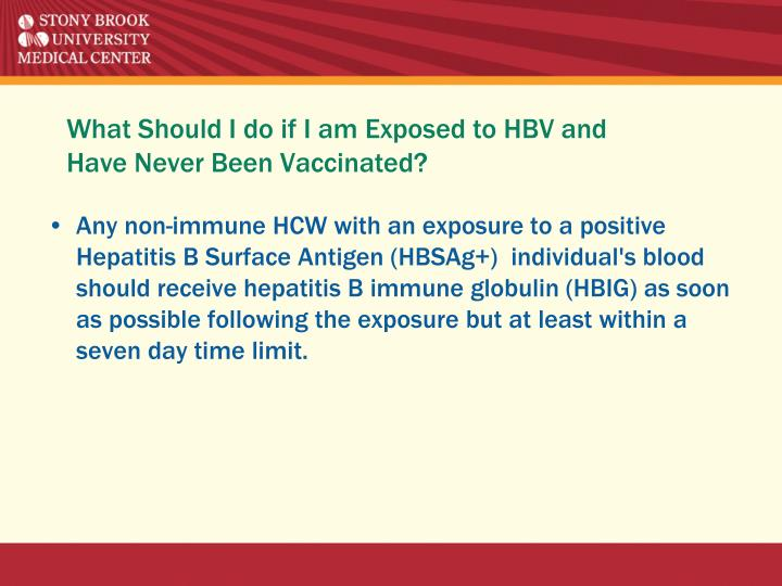 What Should I do if I am Exposed to HBV and