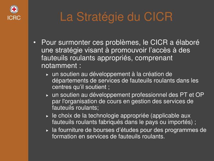 La Stratégie du CICR