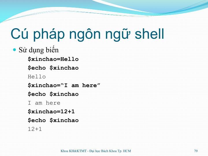 Cú pháp ngôn ngữ shell
