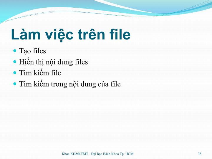 Làm việc trên file